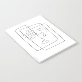 Square Face One Line Art Notebook