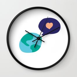 Love Mother Earth Wall Clock