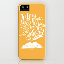 The Breathings of Your Heart iPhone Case