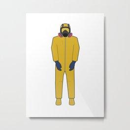 Walter White's Wardrobe - Hazmat Metal Print