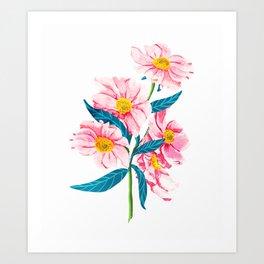 Pink Floral || Art Print