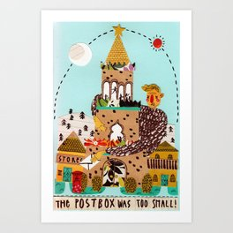 The postbox was too small! Art Print