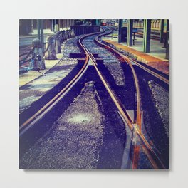 Tracks to Fun Metal Print