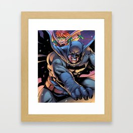 The Dark returns Knight Framed Art Print