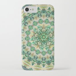 Luna Moth Meditation Mandala iPhone Case
