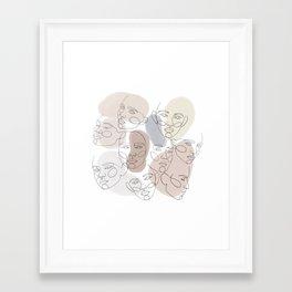 women celebration Framed Art Print