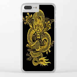 Epic Dragon Yellow Clear iPhone Case