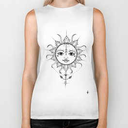 sun with out colours Biker Tank