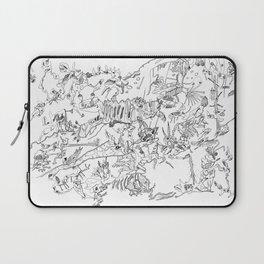Very detailled surrealism sketchy doodle ink drawing Laptop Sleeve