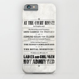 The Duke & The King iPhone Case