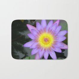 purple water lilly Bath Mat