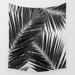 Palm Leaf Black & White III Wall Tapestry