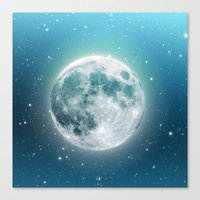 luna Canvas Prints featuring Luna by Good Sense