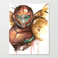samus Canvas Prints featuring Samus by Alonzo Canto