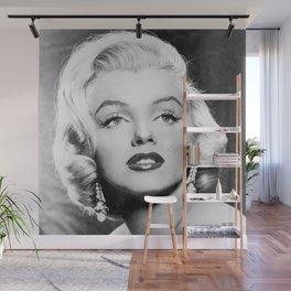 1953 'Gentlemen Prefer Blondes' Movie Publicity Black and White Head-shot Wall Mural