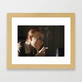 Smokin' Bowie Framed Art Print
