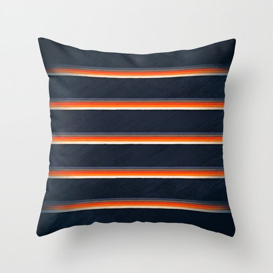 urban midnight Throw Pillow