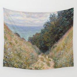 Claude Monet - Road at La Cavée, Pourville Wall Tapestry
