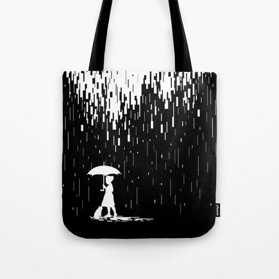 Pixel Rain Tote Bag