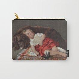 Faithfull Watcher Vintage Dog Art, 1871 Carry-All Pouch