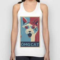 ✩ The OMG Cat Poster Unisex Tank Top