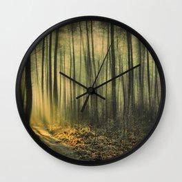 Shaft of Morning Light Wall Clock