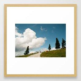 Hiking at the Annaberg, Austrian Alps Framed Art Print