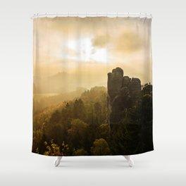 Elbe Sandstone Mountains Shower Curtain