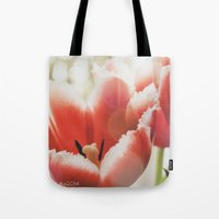 fringe Tote Bags featuring Fringe by JudyBlue aka Triple Vision Fine Art