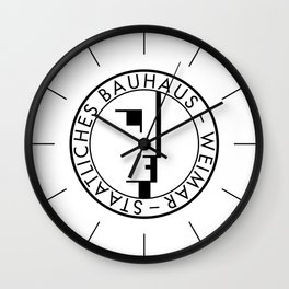 BAUHAUS LOGO / WHITE Wall Clock