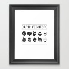 Darth Fighters Framed Art Print