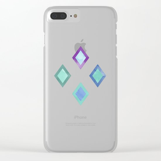 Lovely Pattern IV Clear iPhone Case