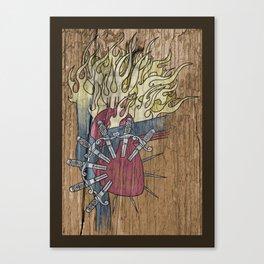 Sorrowful Heart of Mary Canvas Print