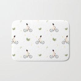 Bike Ride Pattern Bath Mat