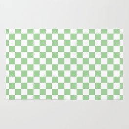 Mint Checkerboard Pattern Rug