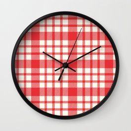 Landon Plaid Wall Clock