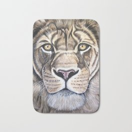 "Lion ""The King"" Acrylic Painting Bath Mat"