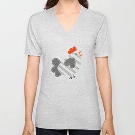 Little Grey Chick Unisex V-Neck