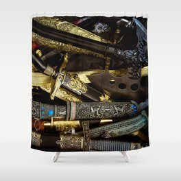 Collage - Daggers, Dirks and Sabres Shower Curtain