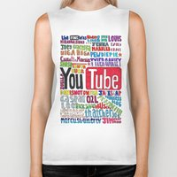 danisnotonfire Biker Tanks featuring Youtube Colored Collage by emma
