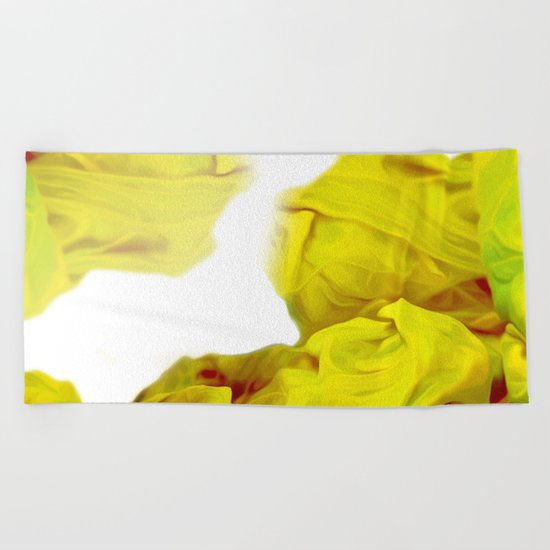 Yellow Ink Beach Towel