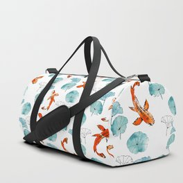 Waterlily koi Duffle Bag