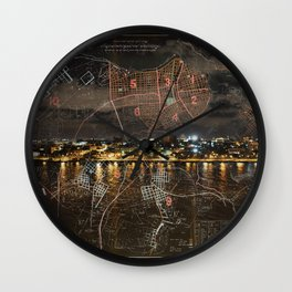 Overnight in Havana Wall Clock