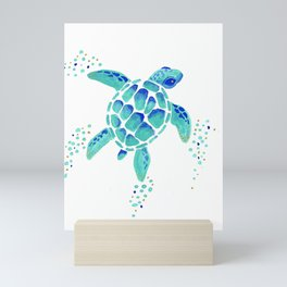 Neptune's Turtle Mini Art Print