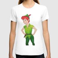 peter pan T-shirts featuring Peter Pan by Sierra Christy Art
