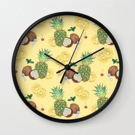 pina colada Wall Clock