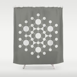 flower of life, alien crop circle, sacred geometry Shower Curtain