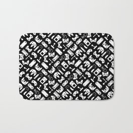 Control Your Game - White on Black Bath Mat