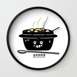 Korean Spicy soft Tofu Stew soup Sundubu jjigae hot Wall Clock