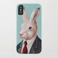 rabbit iPhone & iPod Cases featuring Rabbit by Animal Crew